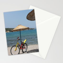 Summer, bike & sea Stationery Cards