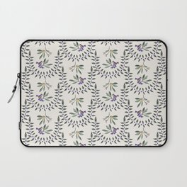 Natural Olive Leaf Berry Birds on Branch Laptop Sleeve