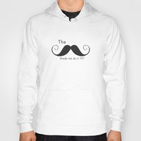 calendars Hoodies featuring The Mustache made me do it  by Shabby Studios Design & Illustrations ..