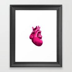 Heart - Pink Framed Art Print