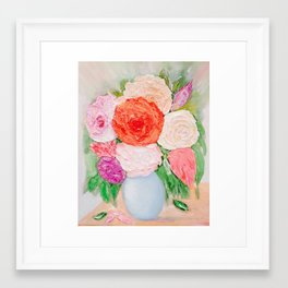 Beautiful joyful bouquet of bringing happiness and good luck for you Framed Art Print