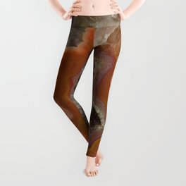 Earthy Quartz Crystal Druzy Leggings