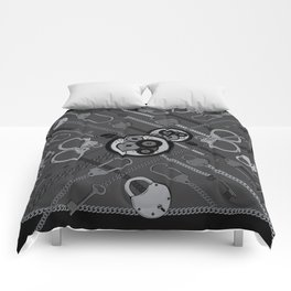 Locks & Chains Scarf Print Comforters