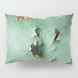Cool turquoise brown rusty metal Pillow Sham