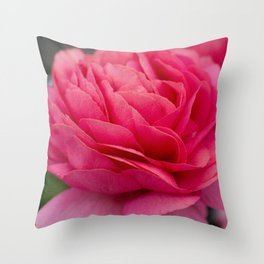 Vivid pink flower Throw Pillow