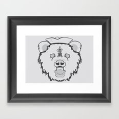 Pirate Bear Framed Art Print