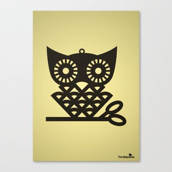 Yellow Hoot Canvas Print