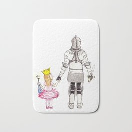 The Princess and her Knight Bath Mat