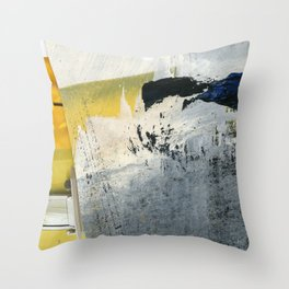 Mellow Yellow Texture Collage Throw Pillow