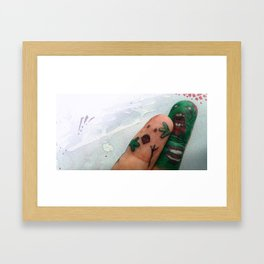 ZOMBIE FINGER ATTACK Framed Art Print