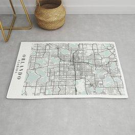Orlando Florida Blue Water Street Map Rug