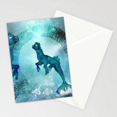 Fantasy seahorse Stationery Cards