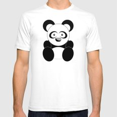 Sock Panda White SMALL Mens Fitted Tee