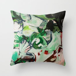 Looking like a Snack (Abstract Painting) Throw Pillow
