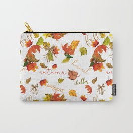 Autumn Leaves Hello Fall! Carry-All Pouch
