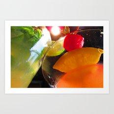 Cocktails I Art Print