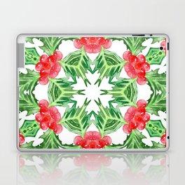 Holly Jolly Christmas Mandala (Large Pattern) Laptop & iPad Skin