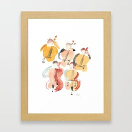 All About that Double Bass Section Framed Art Print