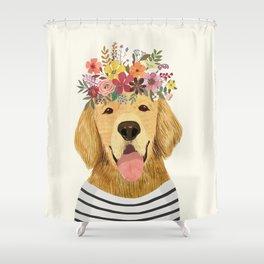 Floral Dog Shower Curtain