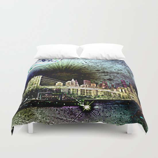 bridge of the universe Duvet Cover