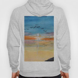 Birds and sunset Hoody