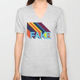 FAKE Unisex V-Neck