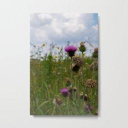 Sprouting Flowers Metal Print