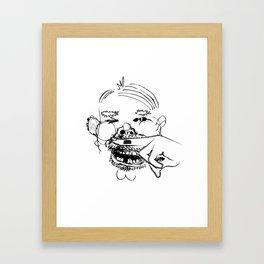 This man is a joke Framed Art Print