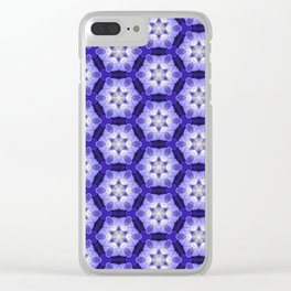 Purple Passion Pattern 4 Clear iPhone Case