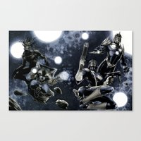 guardians of the galaxy Canvas Prints featuring Guardians of the Galaxy by Richard Cox