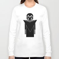 magneto Long Sleeve T-shirts featuring Magneto by Vreckovka