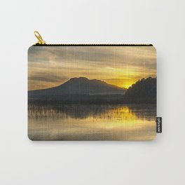 """Sun through the forest mountains at sunset"" Carry-All Pouch"