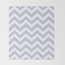Light periwinkle - heavenly color - Zigzag Chevron Pattern Throw Blanket