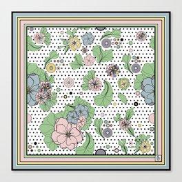 60s floral framed Canvas Print