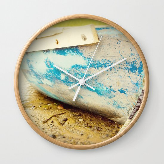 cape cod blue Wall Clock