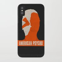american psycho iPhone & iPod Cases featuring American Psycho by Bill Pyle