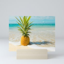 Pineapple Beach Mini Art Print
