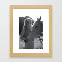 Black and white beuty Framed Art Print