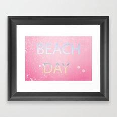 Pink Beach Day  Framed Art Print