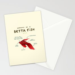 Anatomy of a Betta Fish Stationery Cards
