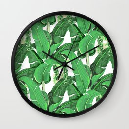 banana leaves brazilliance Wall Clock