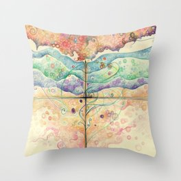 Where everything is music Throw Pillow