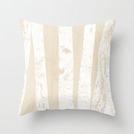 No60 Björk - Trees in white Throw Pillow