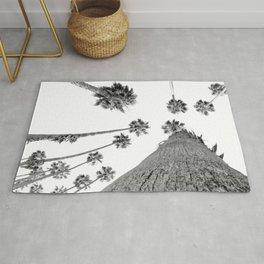 {2 of 2} Hug a Palm Tree // Tropical Summer Black and White Sky Art Print Rug