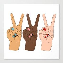 Peace Hands 3 Canvas Print
