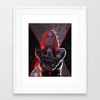 black widow Framed Art Prints featuring Widow by rnlaing