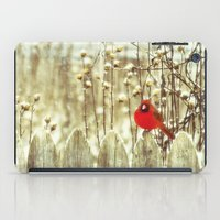 cardinal iPad Cases featuring cardinal by Bonnie Jakobsen-Martin