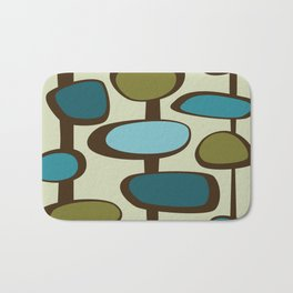 Mid Century Modern Baubles (teal) Bath Mat