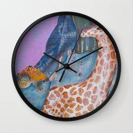 Turtle and the Giraffe Wall Clock