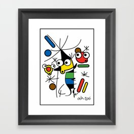 Ooh Zoo – art-series, Miro Framed Art Print